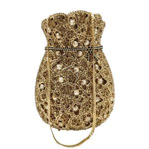 FGG totes robe main incrustée de diamants dîner métal soir sac dîner sac à main parti sac de soirée