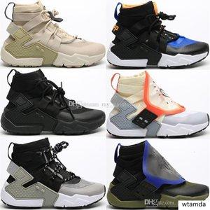 2020 New Huarache E.D.G.E TXT QS Running Shoes Women EDGE AS Triple Black White Sports Sneakers HUARACHE Gripp Acronym High Shoes