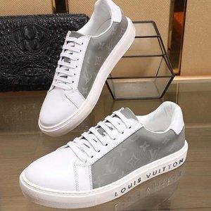 Кожа Мужская обувь Мужской досуг Footwears С Box Design Повседневная обувь для мужчин Scarpe Da Uomo тренер Sneaker Luxury Style 2020 Fashion Type