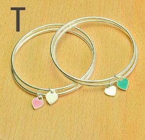 American Europe ins popular new fashion designer cute lovely heart charm bangle bracelet for woman girls