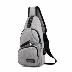 2019 Новый продукт Мужской сумки на ремень USB зарядного Crossbody Сумки Мужчина защита от угона Chest сумки школа лето Короткой поездки Посланники сумка LrMP #