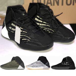 Erkek ile Kutusu Üçlü Siyah Baryum Yansıtıcı Erkekler Spor Spor ayakkabılar Eğitmenler ABD 5-12,5 İçin 2020 Yeni QNTM BSKTBL Kanye Basketbol Ayakkabı