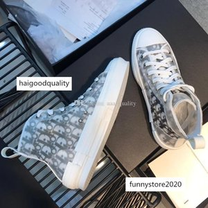 Newest Flowers Technical Canvas B23 High-top Sneaker Oblique Casual High Quality Trainers Womens Mens Designer Shoes Ll42