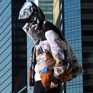 20FW Snow Mountain Camp Nuptse Veste à capuche Homme Femme Mode High Street Manteau d'extérieur Veste coupe-vent Outwear HFYMJK330