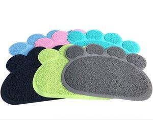 J9jKi Cat litter multi-color environmental protection tasteless size claw print pet mat special price Cat mat multicolor environmental prote