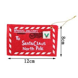 Envelope Christmas Xmas Tree Hanging Card Holder Santa Gift Bag Red Decoration JS23 lWTf#