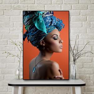 Nu Affiches Sexy Girl et Art Femme africaine Prints Portrait toile Peinture à l'huile Accrochage nordique pour Salon Moderne Décoration
