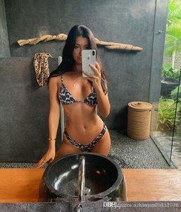 Las mujeres bikini traje de desgaste 2 piezas de Verano Bikini Beach sólido muchachas de los juegos de baño atractivo del halter 2020 Corea cortó el traje de baño 020