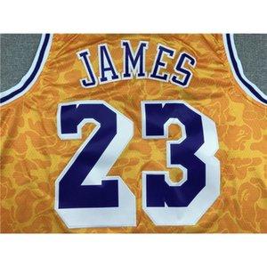 25 JERSEYS BASKETBALL JERSEYS SPORTS WEARS TOP S-XXL VEST #23 JAMES YELLOW Cheap stitched Basketball jerseys