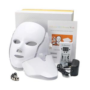 7 цветов Beauty Therapy Фотон LED маска для лица Light Уход за кожей Омоложение морщин удаления прыщей лица шеи Beauty Spa Инструмент
