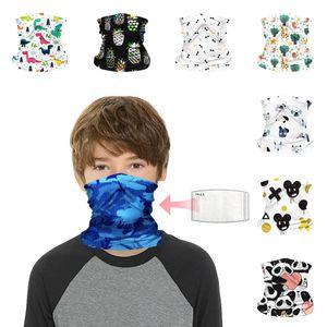 DHL Shipping Bandana Magic Scarf for Kids Cartoon Neck Gaiter Multifunctional Headwear UV Sun-Protection Headband Breathable Face Cover B99F