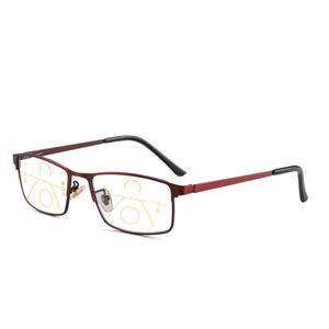 Yüksek Kaliteli Progresif Okuma Gözlüğü Multifokal Bifocal Erkekler Kadınlar Karşıtı Mavi Rey büyütülmesi Presbiyopik Gözlük Kırmızı Gafas 1,5