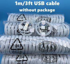 DHL200pcs 7 Generationen Original-OEM-Qualität 1m 3ft USB-Daten-Synchronisierungs-Gebühren-Telefonkabel für 6 7 8 Ohne Package