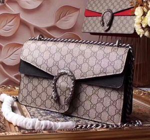 new High quality classic hot fashion lady g design letter chain luxury tilt tiger head flip buckle handbag leather flip shoulder xshfbcl