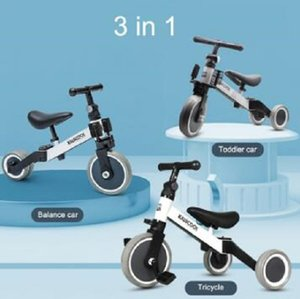 2020 New Children Infant Deformation 3-in-1 Children's Tricycle Scooter Balance Bike Toddler Car Ride on Cars 3 Wheels Toys for Kids