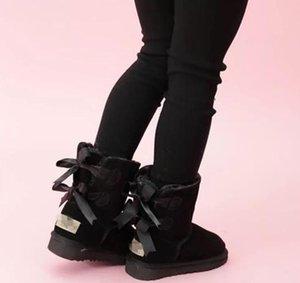 Bambini pattini di cuoio genuini Snow Boots per i più piccoli con archi bambini Calzature ragazze Snow Boots alta qualità di prezzi