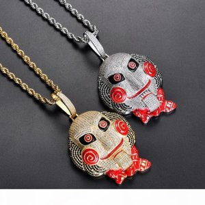 S Large Edition Chainsaw Scare Mask Doll Pendant Mouth Movable Top Matching Edition High Quality Hip Hop Necklace