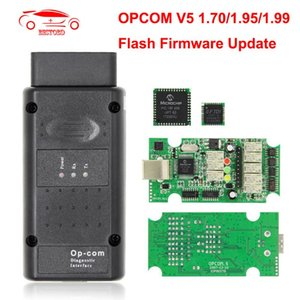 OPCOM V5 flash firmware update For OP COM 1.70 OP-COM 1.95 PIC18F458 FIDI CAN BUS OBD OBD2 Scanner Car Diagnostic Auto Tool
