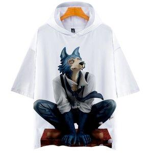 Animal Rhapsody jongen en meisje losse hooded t-shirt trend straat mannen hoodie t-shirt mannen hip-hop harajuku korte mouw tees