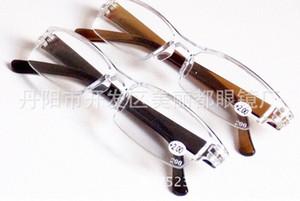 Wholesale Fashion Plastic Reading Glasses, TR90 Mini Rimless Presbyopic Pocket Reader, Design Optics Reading Glasses For Men & Women TgUY#