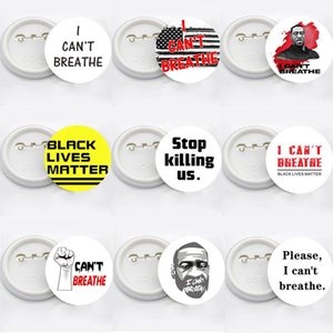 I CAN'T BREATHE Brooches Black Lives Matter Parade Brooches George Floyd Trump USA Flag Pin Badge Party Favor 14styles RRA3144