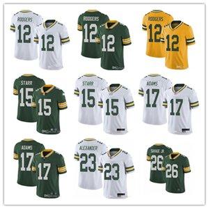 2020 Men GreenBayPacker 12 Aaron Rodgers 26 Darnell Savage Jr 23 Jaire Alexander 17 Davante Adams 15 Bart Starr Football Jerseys
