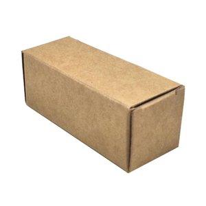 50pcs 5 Tamaños Brown Box Junta cartón paquete de bricolaje hace el regalo de papel Kraft caja de embalaje del lápiz labial botella de aceite esencial de embalaje