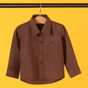 Gsz0x TikTok nouveau casual revers couleur unie tong chen shan chen shan shirt enfant monochrome chemise beau respirant enfants shi