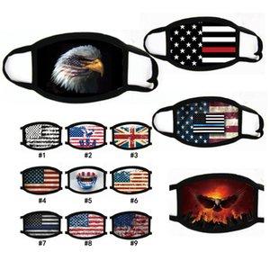 Suministros Mascarillas Trump elección americana a prueba de polvo de la máscara de la máscara de impresión de la bandera americana universal PM2.5 a prueba de viento la boca de algodón