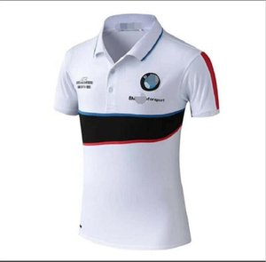 BMW çabuk kuruyan ekibi tulum yaka POLO gömlek polyester çabuk kuruyan dağ bisikletçisi tişört özel nefes çabuk kuruyan kültürel gömlek