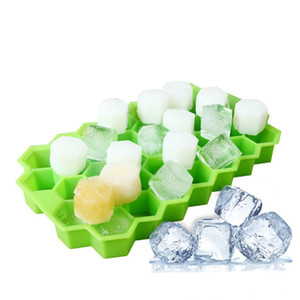 Ice Cube Trays Food Grade Silicone 37 Cubes Molds with Lid BPA Free for Ice Cream Whiskey Cocktail