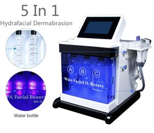 Portable 5 in 1 Cold Hammer Microdermabrasion Diamond Mcirodermabrasion Hydra Dermabrasion Multipolar RF Ultrasonic Skin Peel Facial Suction