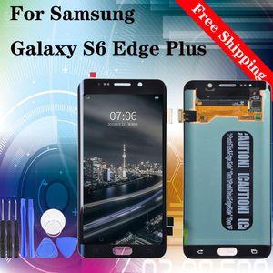 """5,7"""" Original Para Samsung Galaxy S6 Borda Além disso G928 LCD touch substituição de tela digitalizador de exibição com a montagem Azul Ouro Branco"""