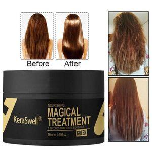 Маска ухода за волосами Keraswell, Magic уход за волосами, магический кератин, 5 секунд, ремонт урона корня волос,
