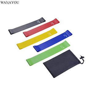 WANAYOU 5PCS Latex Yoga Resistance Band,Stretching Loop with Storage Bag Fitness Equipment,5Levels Elastic Workout Gym Pull Rope