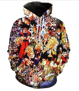 2020 New Unisex Fashion Dragon Ball Hoodie Long Sleeve Jacket Varsity Coat Cosplay Costumes free shipping 039