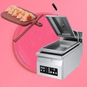 chaud commercial électrique à double tête Fried en acier inoxydable épaissie Dumpling machine machine Steak grande machine Pancake