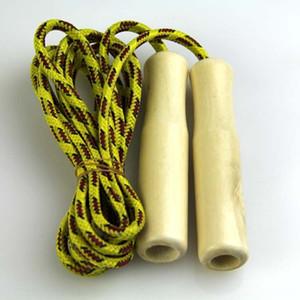 Хлопчатобумажной пряжи хлопчатобумажной пряжи спорттовары детей веревки пропуск деревянной ручкой веревки пропуском ткачества детский деревянная ручка