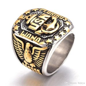 2019 New US Navy Men Finger Rings The Alloy Eagle Anchor Band Rings Male Jewelry Rings Accessories