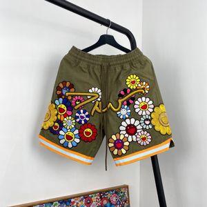 20ss hechos a mano puros pantalones cortos bordado MKSZY mujeres de los hombres de alta calidad