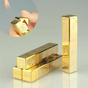 Altın Tuğla Şeklinde En Yeni Gaz Bütan külçe Çakmak Uzun çubuğu Alev Metal Sigara Puro Çakmağı Mutfak Aletleri Aksesuarları Sigara İçin