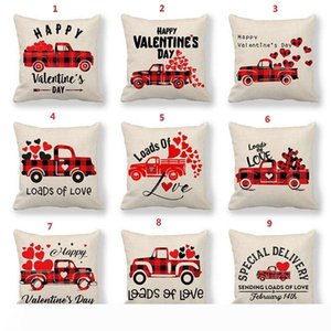 Household Decorative Throw Pillows Cases Love Letter Pillow Case Breathable Square Cushion Cover For Valentine Day 72 styles