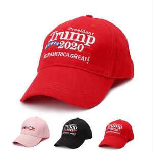 Keep America Great! 2020 Le président américain Élection Baseball Caps Donald Trump chapeaux de qualité supérieure unisexe Noir Rouge Rose