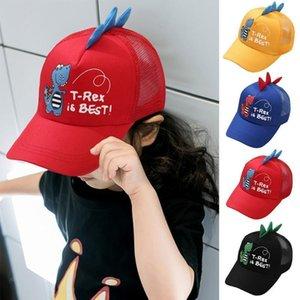Womail Hat Unisex Children Cartoon Dinosaur Stereo Embroidery Cap Dinosaur Embroidered Cap Fashion Baseball Peaked Hat
