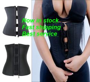 Atractiva de las mujeres del corsé de la talladora del cuerpo de látex de goma de la cintura de Underbust Trainer cremallera adelgaza Reductora