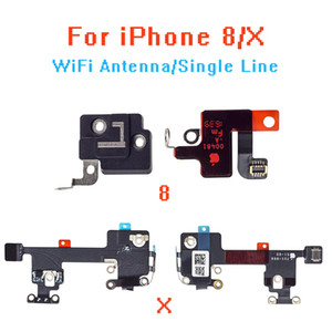 10pcs / lot für IPhone8 8P X WIFI / GPS Signal Antenne Empfang Flexkabel und GPS-Abdeckung Set Ersatz Reparatur Teil