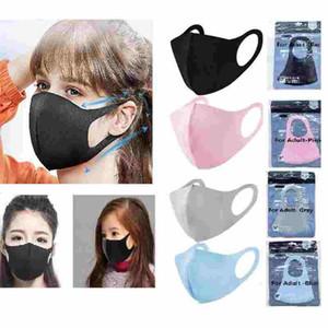 Новый Рот маска для лица черный хлопок Смешать анти пыли и носа Защита Маска Маски Мода для женщин Человек детей или Одноразовая маска FY9041