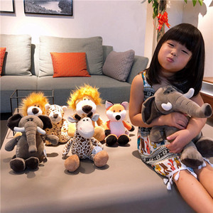 New product creative toy forest animal series plush elephant fox giraffe baby companion doll to appease doll