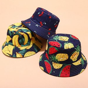 Fisherman's cap New tropical printed fruit pattern fisherman Hat summer outdoor shade hat casual basin hat