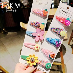 17KM 5Pcs Set Fashion Baby Girls Fruit Hair Clips & Pins Hair Clips 2020 INS Sweet Color Clip For Women Accessories